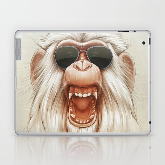 The Great White Angry Monkey Laptop & iPad Skin