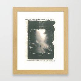 Going to Happen Framed Art Print