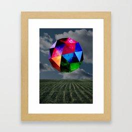 Intergalactic Polygon Framed Art Print