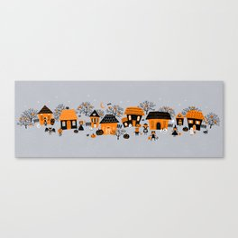 Halloween at Dusk...in the neighborhood Canvas Print