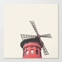 moulin rouge Canvas Prints featuring Moulin by LoR.
