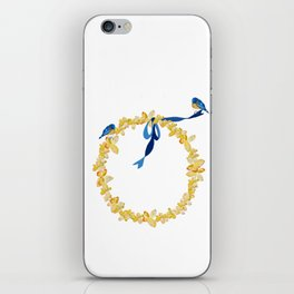 Bluebirds and Blossoms iPhone Skin