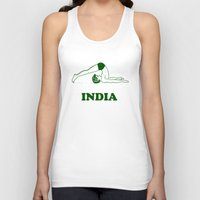 india Tank Tops featuring India  by Tshirtbaba