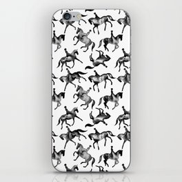 Dressage Horse Silhouettes iPhone Skin