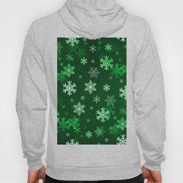 Dark Green Snowflakes Hoody
