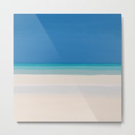 Dreamt Tropical Beach Design Metal Print
