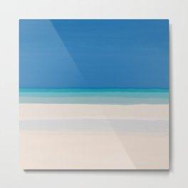 Dreamt Tropical Beach Design Metal Print