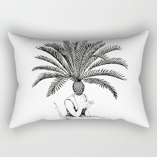 Palm Tree Head Rectangular Pillow