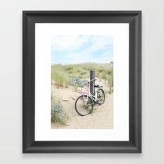 Seaside Bicycle Framed Art Print