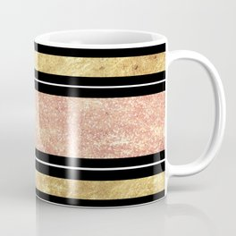 Simple rose gold stripes pattern Coffee Mug