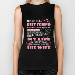 Wife T-Shirt Funny Proud To Be His Wife Funny Wife Gift Biker Tank
