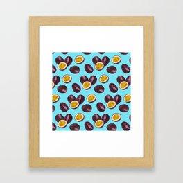 Live your passion on blue Framed Art Print
