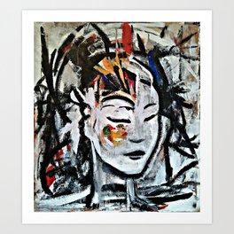 El Cambio - Abstract portraits - Original Painting - MARINA TALIERA Art Print