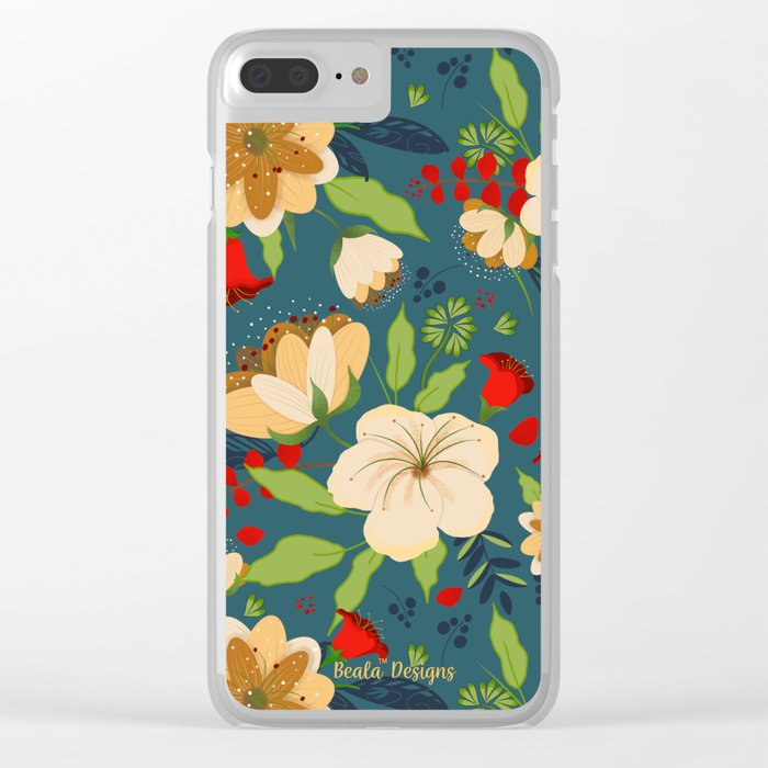 Botanical Beauties Clear iPhone Case