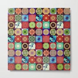 Mandala Patchwork Metal Print