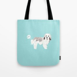 Havanese farting dog cute funny dog gifts pure breed dogs Tote Bag