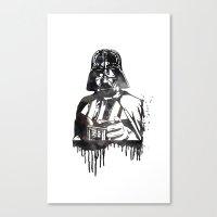 darth vader Canvas Prints featuring Darth Vader by Jon Hernandez