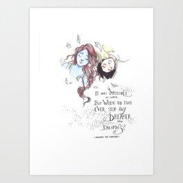 Strange the Dreamer Art Print