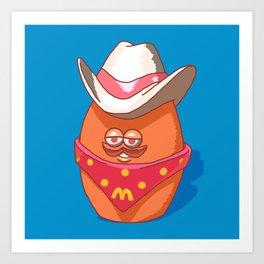 McNugget Buddies Cowboy 1988 Happy Meal Toy Art Print