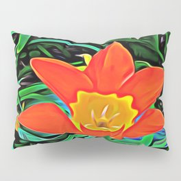 Flower of Enchanted Orange Flow Pillow Sham