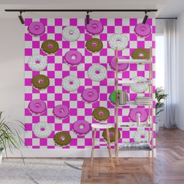 A King Cake Donut Wall Mural