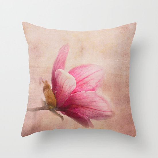 Pink Magnolia I - Flower Art Throw Pillow by Jai Johnson Society6