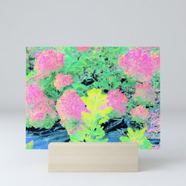 Fluorescent Golden Smoke Tree Garden Mini Art Print