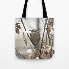 Carolina Wren in Winter Tote Bag