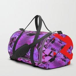 RED PURPLE AMETHYST FEBRUARY GEM BIRTHSTONE MODERN ART Duffle Bag