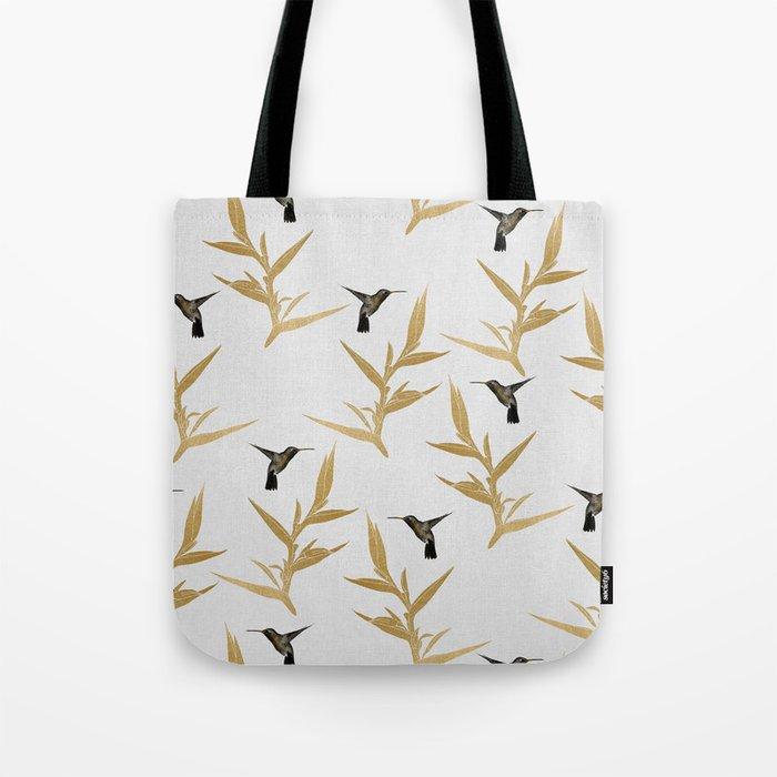 Hummingbird & Flower II Tote Bag