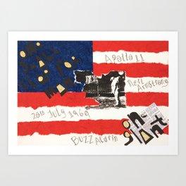 60's Series: Apollo Landing Art Print