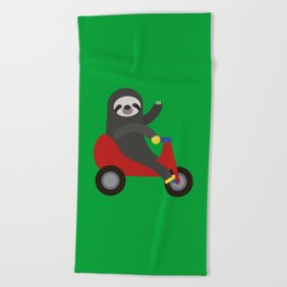 Sloth on Tricycle Beach Towel