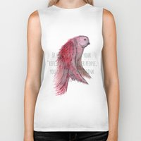 text Biker Tanks featuring birdy text!  by gasponce