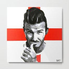 David Beckham Art Print Metal Print