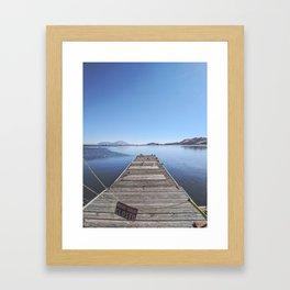 Closed Dock Framed Art Print
