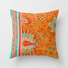 Bursts of India from the Victorio Road Series Throw Pillow