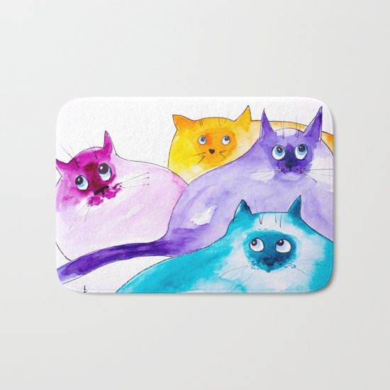THOUGHTFUL CATS Bath Mat
