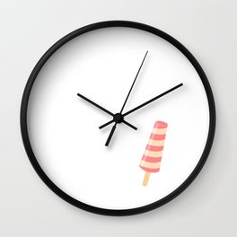 It's Never Too Cold for Ice Cream Sweet Tooth T-Shirt Wall Clock