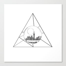 Graphic . geometric shape gray London in a bottle Canvas Print
