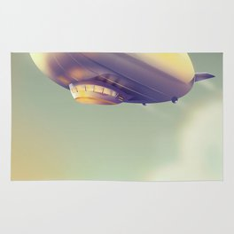 Germany Blimp vacation poster Rug