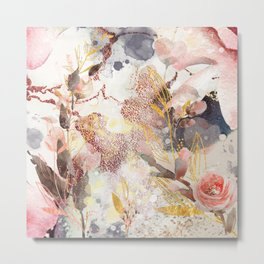 Abstract flower time Metal Print