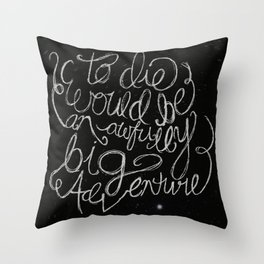Peter Pan Quote Throw Pillow