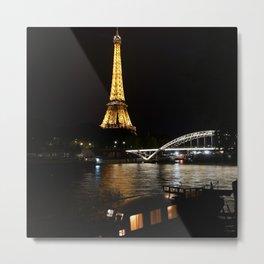 Eiffel Tower At Night 6 Metal Print