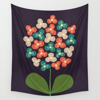 power Wall Tapestries featuring Flower Power by Picomodi