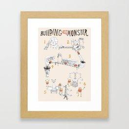 Building a Monster Framed Art Print