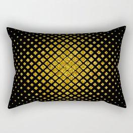 Art Deco Glitter-Gold Diamonds Glamorous Pattern Rectangular Pillow