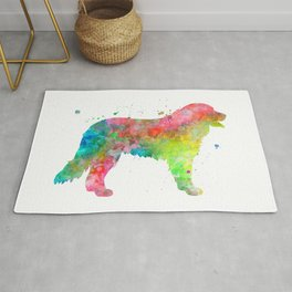 Bernese Mountain Dog Watercolor Painting 2 Rug