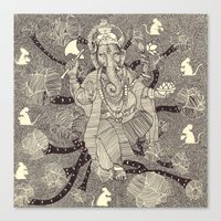 ganesh Canvas Prints featuring Ganesh by nu boniglio