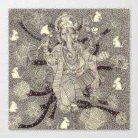 ganesh Canvas Prints featuring Ganesh by nu boniglio