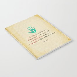 I will uphold you! Notebook